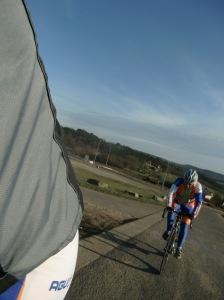 en... puf, puf....die foto van een zwoegende Dion op de Redoute......