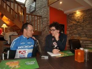 """interview verslaggever Fiets met """"startnummer 1"""", Mario Wouters"""