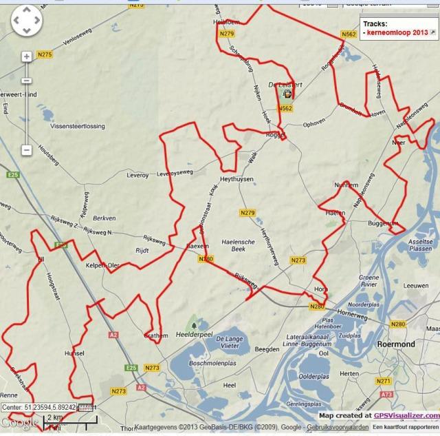 Kernenomloop 2013:  de route