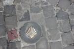 Stoeptegel  in Antwerpen: de weg naar Santiago !!