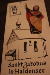 m'n 1e stempel !! Linksboven op de folder van Sankt Jacobus in Haldensee (Oos)