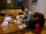 Robert druk in de weer met uitzoekwerk