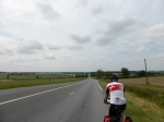 """drukke"" provinciale weg van Tours naar Chatellerault"
