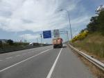 nog een stukje autosnelweg en we zijn in Pamplona.
