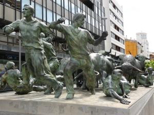 Pamplona: stierenrennen
