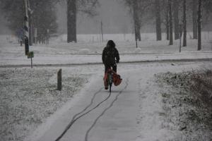fietsen met dit weer..?? alleen als het écht moet !