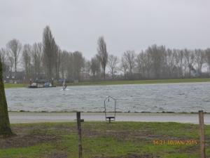 ook voor windsurfers was het perfect weer !!