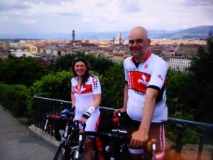 met op de achtergrond Assisi