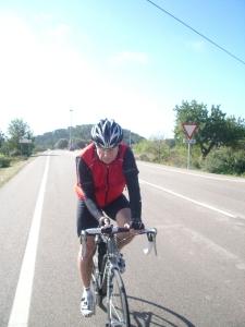 Jac met zijn beste fietsmaat: de kilometerteller !!