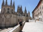 vanuit refugio uitzicht op de kathedraal