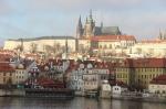 uitzicht op Praagse burcht en Sint Vituskathedraal
