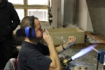 de glasblazer in actie